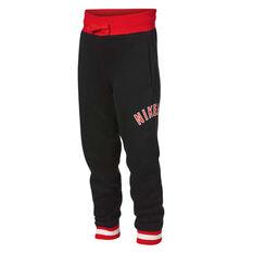 4672bcd31b67 Nike Boys Air Fleece Pants Black   Red 4