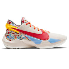 Nike Air Zoom Freak 2 NRG Mens Basketball Shoes Neutral/Red US 5.5, Neutral/Red, rebel_hi-res