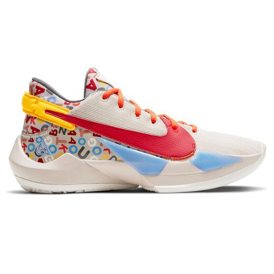 Nike Air Zoom Freak 2 NRG Mens Basketball Shoes, Neutral/Red, rebel_hi-res