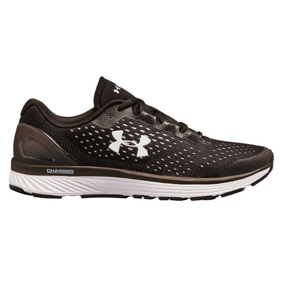 Under Armour Charged Bandit 4 Womens Running Shoes, Black / White, rebel_hi-res