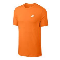 Nike Sportswear Mens Club Tee Orange XS, Orange, rebel_hi-res