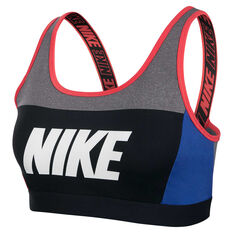 Nike Womens Distort Classic Sports Bra Black / Blue XS, Black / Blue, rebel_hi-res