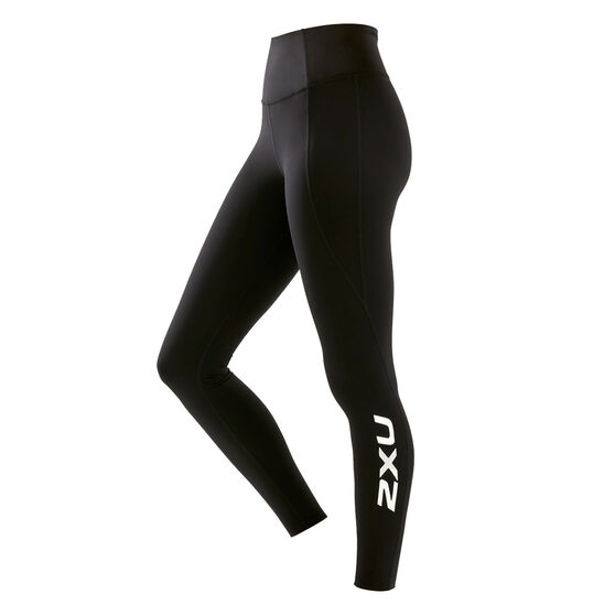 2XU Womens Fitness New Heights Compression Tights, Black, rebel_hi-res