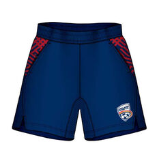 Adelaide United Mens Supporter Training Shorts Blue S, Blue, rebel_hi-res