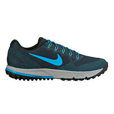 Nike Wildhorse 3 Mens Trail Trail Running Shoes Navy / Blue US 7, Navy / Blue, rebel_hi-res
