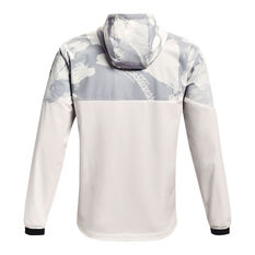 Under Armour Mens Project Rock Legacy Windbreaker White S, White, rebel_hi-res