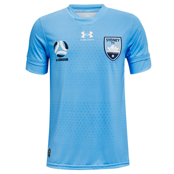 Sydney FC 2021/22 Youth Replica Home Jersey Blue S, Blue, rebel_hi-res
