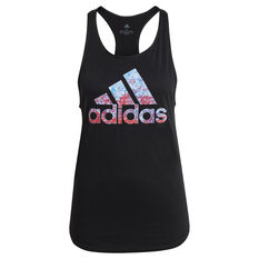 adidas Womens Snow Cone Graphic Tank Black XS, , rebel_hi-res