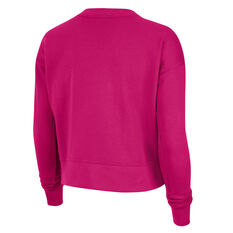 Nike Womens Dri-FIT Get Fit Training Sweatshirt Pink XS, Pink, rebel_hi-res
