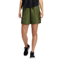 adidas Womens Woven Long Length Shorts Khaki XS, Khaki, rebel_hi-res