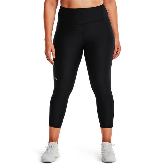 Under Armour Womens HeatGear No-Slip Ankle Tights Plus, Black, rebel_hi-res