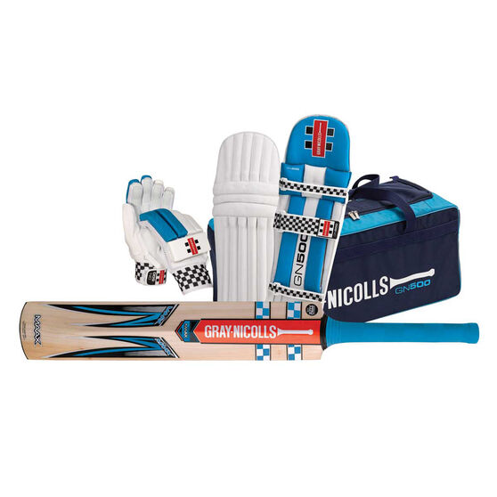 Gray Nicholls MAAX Strike Junior Cricket Set, Blue, rebel_hi-res
