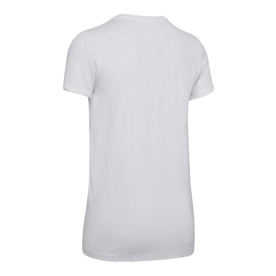 Under Armour Womens Graphic Tee, Grey, rebel_hi-res