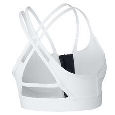 Nike Womens Indy Zip Light Support Sports Bra White XS, White, rebel_hi-res