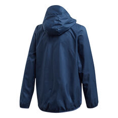 adidas Boys Must Haves Windbreaker Jacket Navy/White 6, Navy/White, rebel_hi-res