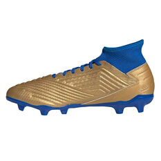 adidas Predator 19.3 Football Boots Gold / Blue US Mens 7 / Womens 8, Gold / Blue, rebel_hi-res