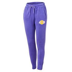 LA Lakers Vintage Logo Trackpants Purple XS, Purple, rebel_hi-res