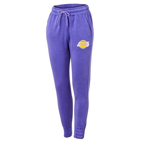 LA Lakers Vintage Logo Trackpants, Purple, rebel_hi-res