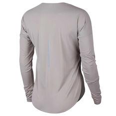 248b97181542 ... Nike Womens City Sleek Running Top Grey XS