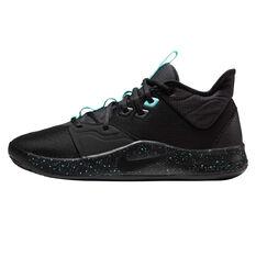 Nike PG 3 Mens Basketball Shoes Black US 7, Black, rebel_hi-res