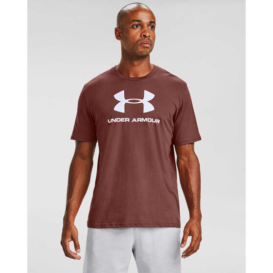 Under Armour Mens Sportstyle Logo Tee, Red, rebel_hi-res