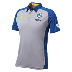 Parramatta Eels 2019 Mens Sub Polo Grey S, Grey, rebel_hi-res