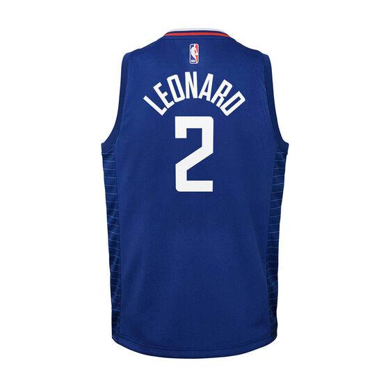 Nike Los Angeles Clippers Kawhi Leonard 2020/21 Kids Icon Swingman Jersey, Blue, rebel_hi-res