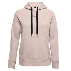 Under Armour Womens Rival Fleece HB Hoodie Pink XS, Pink, rebel_hi-res