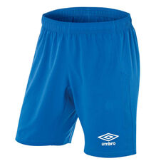 Umbro Kids Junior League Knit Shorts Royal Blue 6, Royal Blue, rebel_hi-res