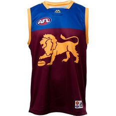 Brisbane Lions 2019 Men's Replica Home Guernsey Maroon / Navy / Gold S, Maroon / Navy / Gold, rebel_hi-res