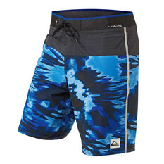 Quiksilver Mens Highline Blackout 19in Board Shorts Blue 30, Blue, rebel_hi-res