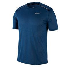Nike Mens Dry Cool Miler Running Tee Navy S, Navy, rebel_hi-res