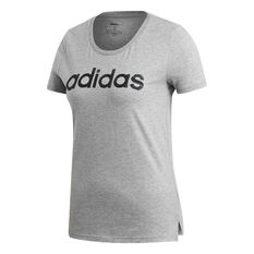 adidas Womens Brush Effect Logo Graphic Tee, Grey, rebel_hi-res