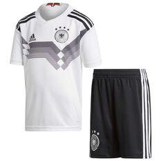 Germany 2018 Kids Home Mini Kit White / Black 43134, White / Black, rebel_hi-res