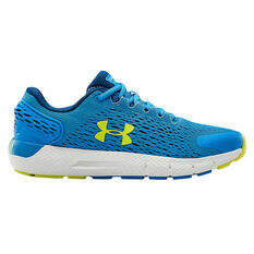 Under Armour Charged Rogue 2 Kids Running Shoes Blue/Yellow US 4, Blue/Yellow, rebel_hi-res