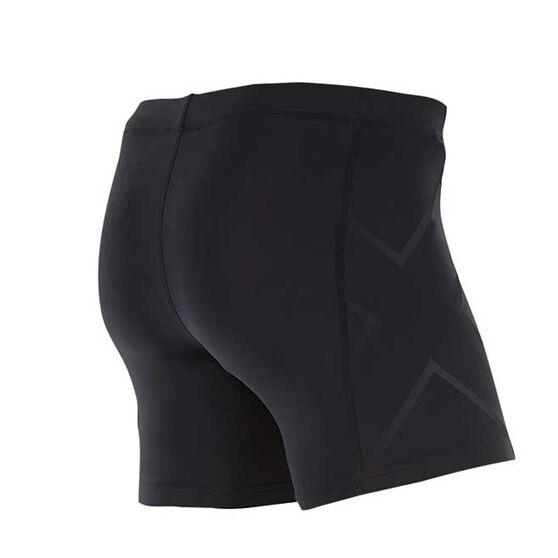 2XU Mens Compression 1 / 2 Shorts, Black, rebel_hi-res