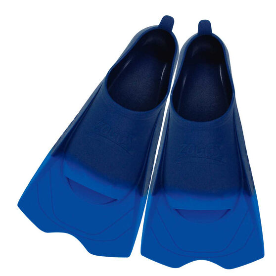 Zoggs Ultra Silicone Fins Blue US 8 - 9, , rebel_hi-res