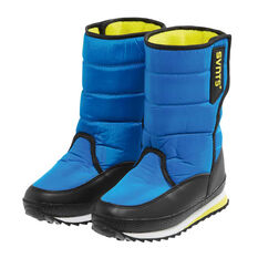 SVNT5 Boys Pace Boots Blue / Yellow US 1, Blue / Yellow, rebel_hi-res