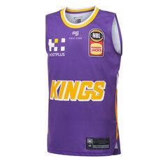Sydney Kings 2019/20 Kids Home Jersey Purple 8, Purple, rebel_hi-res