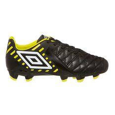 Umbro Medusae II Club HG Kids Football Boots Black / Yellow US 5, Black / Yellow, rebel_hi-res