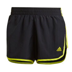 adidas Womens Marathon 20 Running Shorts Black XS, Black, rebel_hi-res