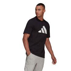 adidas Mens Badge of Sport Logo Tee, Black, rebel_hi-res