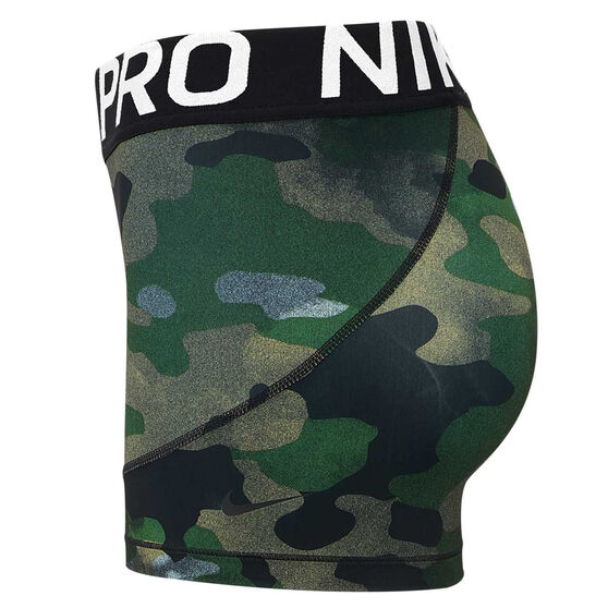 Nike Womens Pro Shorts, Camo, rebel_hi-res