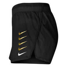 Nike Womens Swoosh Run Shorts Black XS, Black, rebel_hi-res