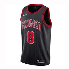 Nike Chicago Bulls Zach LaVine 2019/20 Mens Alternate Swingman Jersey Grey / Red S, Grey / Red, rebel_hi-res