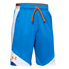 Under Armour Boys Stunt 2.0 Shorts Blue XS, Blue, rebel_hi-res