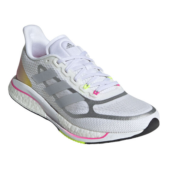 adidas Supernova+ Womens Running Shoes, White/Silver, rebel_hi-res