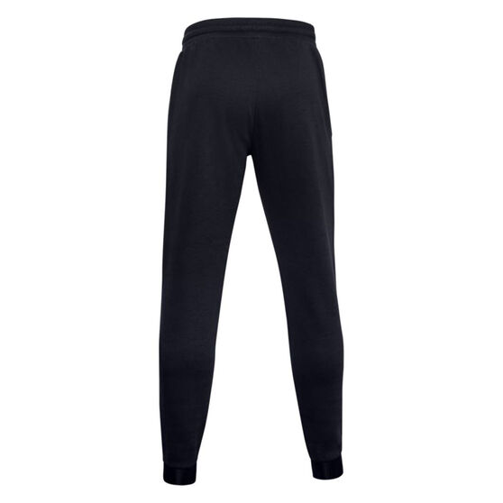 Under Armour Mens Project Rock Charged Cotton Fleece Track Pants, Black, rebel_hi-res
