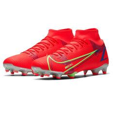 Nike Mercurial Superfly 8 Academy Football Boots, Crimson, rebel_hi-res