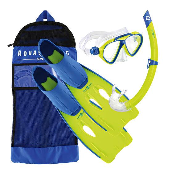 Aqua Lung Sport Junior Panda Snorkel Set, Blue, rebel_hi-res